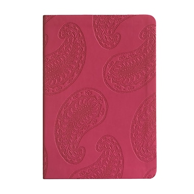 Eccolo™ Italian Faux Leather Paisley Journal, Red
