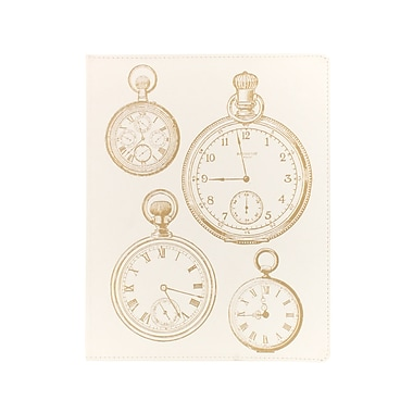 Eccolo™ Faux Leather Clocks With Gold Journal, White