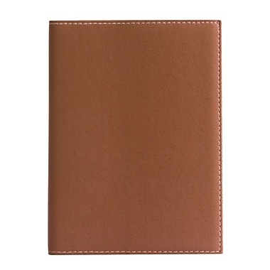Eccolo™ Faux Leather Pearl Refillable Journal, Tan