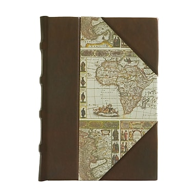 Eccolo™ Leather Map Paper Journal, Brown