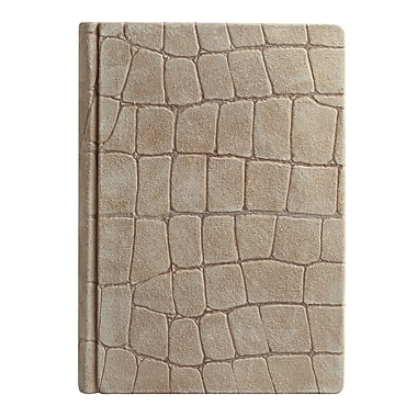 Eccolo™ Italian Leather Crocco Journal, Suede