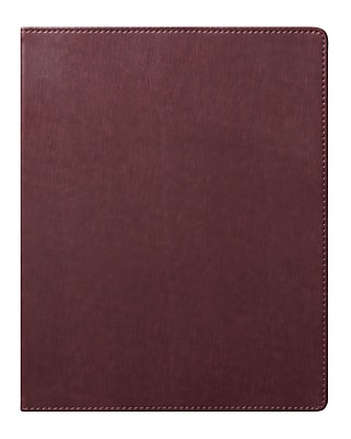 Eccolo™ Faux Leather Simple Desk Size Journal, Brown