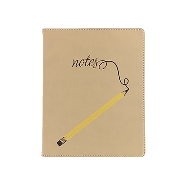 Eccolo™ Faux Leather Pencil on Beige Journal