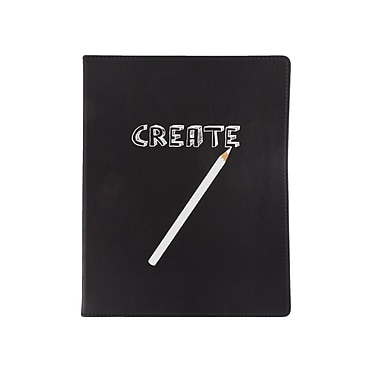 Eccolo™ Faux Leather Create and Pencil Journal, Black