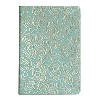 Eccolo™ Faux Leather Vines Journal, Light Blue