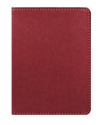 Eccolo™ Faux Leather Simple Pocket Size Journal, Brown (D321R)