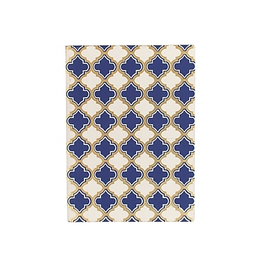 Eccolo™ Faux Leather Morrocan Tile Journal, Blue/White