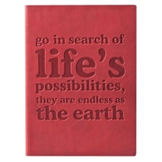 Eccolo™ Italian Faux Leather Go in Search of Life Journal, Red