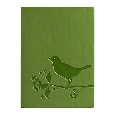 Eccolo™ Faux Leather Bird and Flower Journal, Green