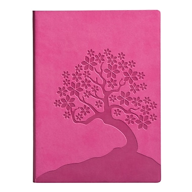 Eccolo™ Faux Leather Cherry Blossoms Journal, Hot Pink