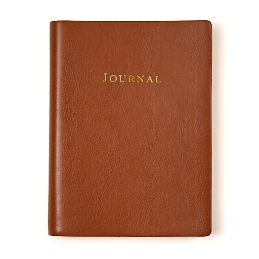 Eccolo™ Embossed Leather Journal, Tan