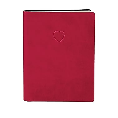 Eccolo™ Italian Faux Leather Red Heart Journal, Crimson