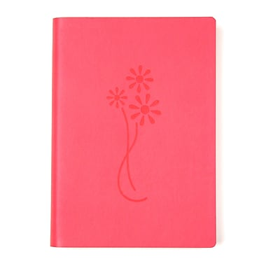Eccolo™ Italian Faux Leather Flower Lined Journal, Pink