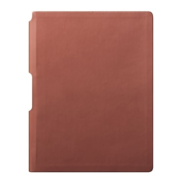 Eccolo™ Faux Leather Groove Jazz Desk Journal, Tan