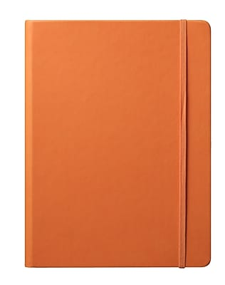 Eccolo™ Faux Leather Large Cool Jazz Journal, Orange