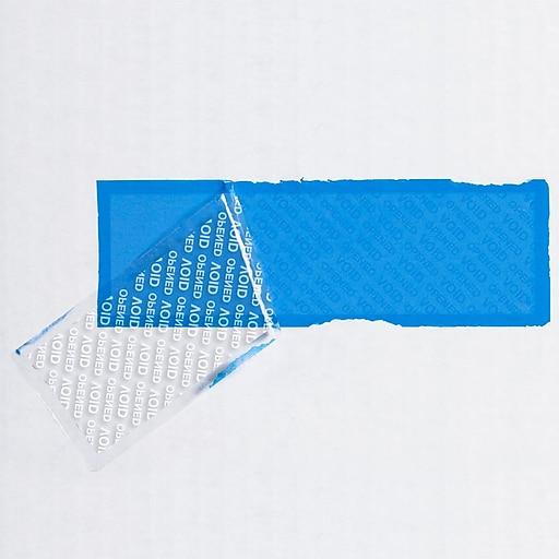 "Tape Logic 2"" x 5 3/4"" Security Strip, Blue"