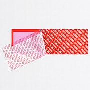 """Tape Logic 2"""" x 5 3/4"""" Security Strip, Red, Roll  (T90257RD1PK)"""