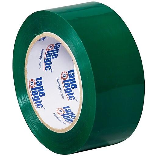 """Tape Logic 2""""W x 110 Yards x 2.2 mil Carton Sealing Tape, Green, Pack of 6 (T90222G6PK)"""