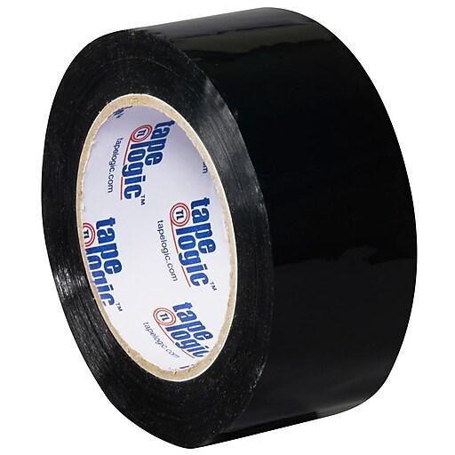 """Tape Logic 2""""W x 110 Yards x 2.2 mil Carton Sealing Tape, Black, Pack of 6 (T90222BK6PK)"""