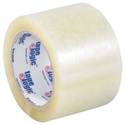 "Tape Logic 3"" x 55 yds. x 3.5 mil Carton Sealing Tape, Clear, 6/Pack"