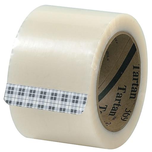 "3M 3"" x 110 yds. x 1.6 mil 369 Carton Sealing Tape,  Clear, 6/Pk"