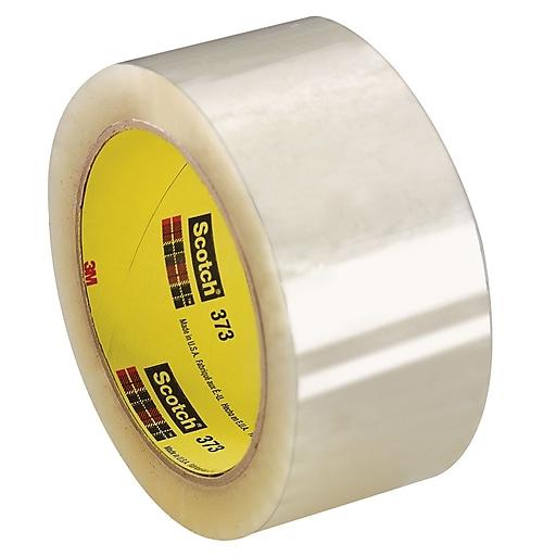 "3M 2"" x 55 yds. x 2.5 mil 373 Carton Sealing Tape,  Clear, 6/Pk"