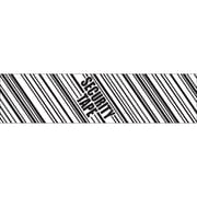 """Tape Logic® Security Tape, """"Security Tape"""", 3"""" x 110 yds, Black/White, 24/Case"""