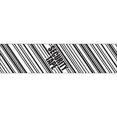"Tape Logic 3"" x 110 yds. x 2.5 mil ""SECURITY TAPE"" Security Tape,  Black/White, 36/Carton"