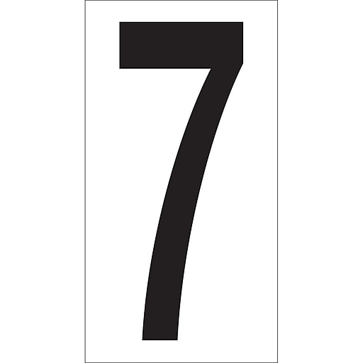 "Tape Logic 3 1/2"" Vinyl Warehouse Number Label,  7, 50/Carton"