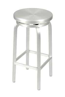 Euro Style™ Miller-B Aluminum Swivel Bar Stool