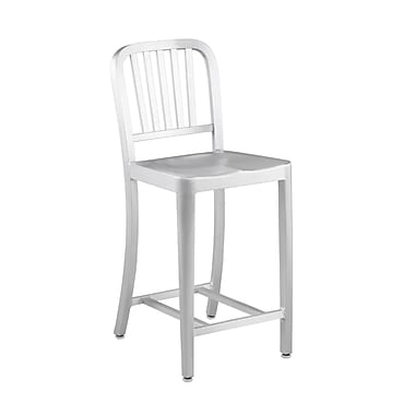Euro Style™ Cafe-C Aluminum Counter Stool, Matte