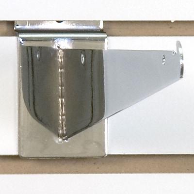 Slatwall Shelf Bracket, Chrome, 10