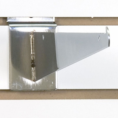 Slatwall Shelf Bracket, Chrome, 12