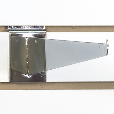 Slatwall Shelf Bracket, Chrome, 16