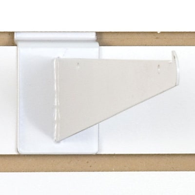 Slatwall Shelf Bracket, White, 10