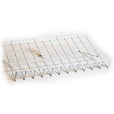 Adjustable Slatwall Shelf, White, 24