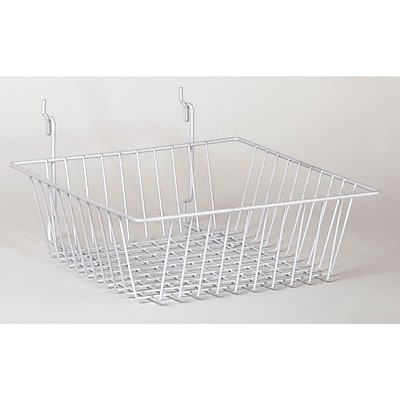 Wire Basket, White, 12