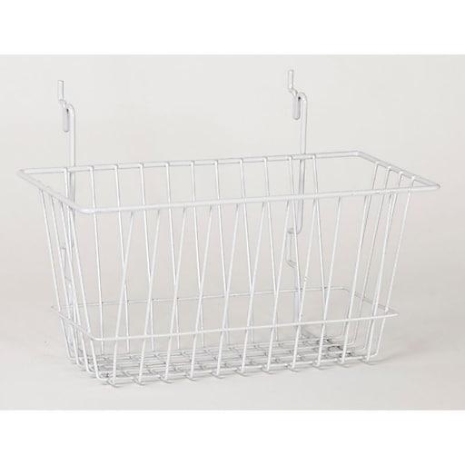 "Wire Basket, White, 12"" X 6"" X 6"""