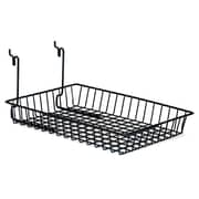 "Wire Basket, Black, 10"" X 14"" X 2"", 6/Pack"