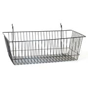 "Wire Basket, Black, 24"" X 12"" X 8"""