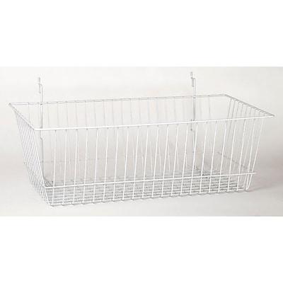 Wire Basket, White, 24