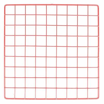 Mini Grid, Red, 14