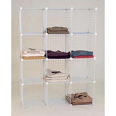 Mini Grid Unit, 12 Shelves, White
