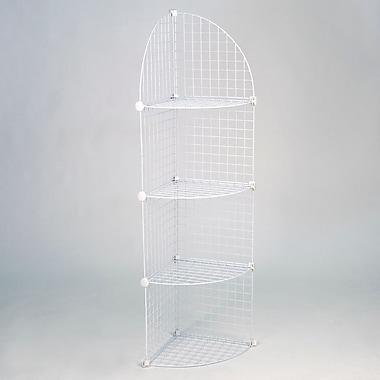 Mini Grid Corner Unit, 4 Shelves, White