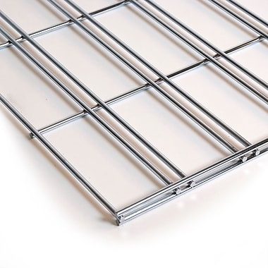 Slatgrid Panel, Chrome, 2'X4'
