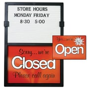 "KC Store Fixtures 12204 20"" x 14"" ""Open/Closed"" Message Board"