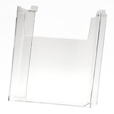 Slatwall Literature Holder, Clear, 8-1/2