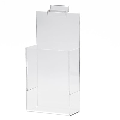 Slatwall Literature Holder, Acrylic, 4
