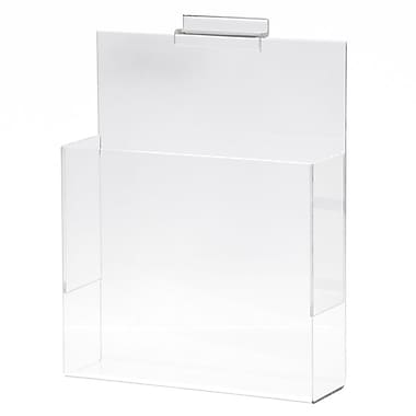 Slatwall Literature Holder, Acrylic, 8-1/2