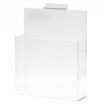 Slatwall Literature Holder, Acrylic, 8-1/2